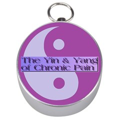 Yin & Yang Of Chronic Pain Silver Compass by FunWithFibro