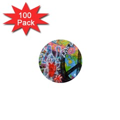 Prague Graffiti 1  Mini Button Magnet (100 Pack) by StuffOrSomething