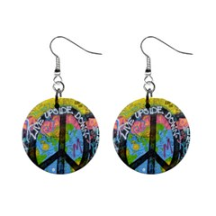 Prague Graffiti Mini Button Earrings