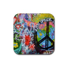 Prague Graffiti Drink Coasters 4 Pack (square) by StuffOrSomething