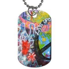 Prague Graffiti Dog Tag (two Sided)  by StuffOrSomething