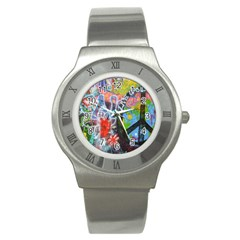 Prague Graffiti Stainless Steel Watch (slim)