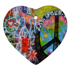 Prague Graffiti Heart Ornament (two Sides) by StuffOrSomething