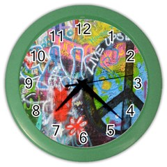 Prague Graffiti Wall Clock (color) by StuffOrSomething