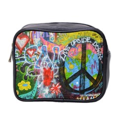 Prague Graffiti Mini Travel Toiletry Bag (Two Sides)
