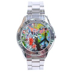 Prague Graffiti Stainless Steel Watch by StuffOrSomething