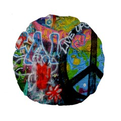Prague Graffiti 15  Premium Round Cushion  by StuffOrSomething
