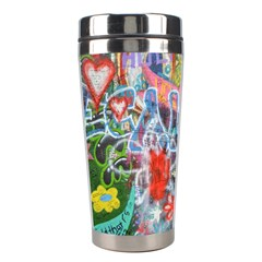 Prague Graffiti Stainless Steel Travel Tumbler by StuffOrSomething