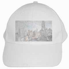 Eiffel Tower Paris White Baseball Cap by rokinronda