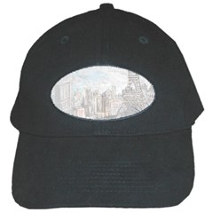 Eiffel Tower Paris Black Baseball Cap by rokinronda