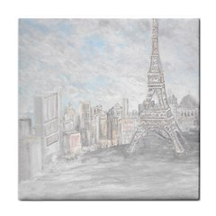 Eiffel Tower Paris Face Towel by rokinronda