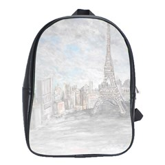 Eiffel Tower Paris School Bag (large) by rokinronda