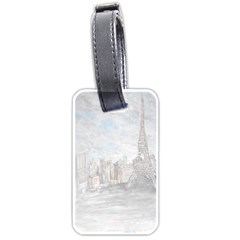 Eiffel Tower Paris Luggage Tag (two Sides)