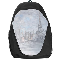 Eiffel Tower Paris Backpack Bag by rokinronda