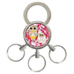 Two Owls 3 Ring Key Chain by uniquedesignsbycassie