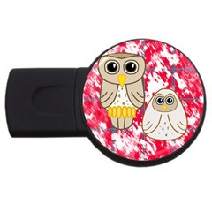 Two Owls 4gb Usb Flash Drive (round) by uniquedesignsbycassie
