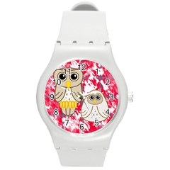 Two Owls Plastic Sport Watch (medium) by uniquedesignsbycassie