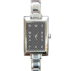 Groovy Circles Rectangular Italian Charm Watch by StuffOrSomething