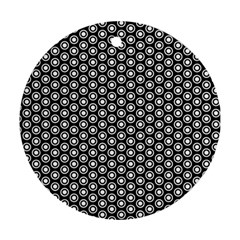 Groovy Circles Round Ornament by StuffOrSomething