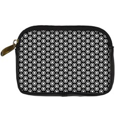 Groovy Circles Digital Camera Leather Case by StuffOrSomething