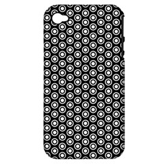 Groovy Circles Apple Iphone 4/4s Hardshell Case (pc+silicone) by StuffOrSomething