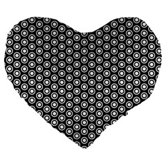 Groovy Circles 19  Premium Heart Shape Cushion by StuffOrSomething