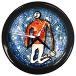 clockman-FULLSIZE Wall Clock (Black)