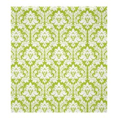 Spring Green Damask Pattern Shower Curtain 66  X 72  (large) by Zandiepants