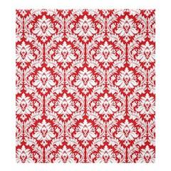 Poppy Red Damask Pattern Shower Curtain 66  X 72  (large) by Zandiepants