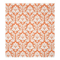 Nectarine Orange Damask Pattern Shower Curtain 66  X 72  (large) by Zandiepants