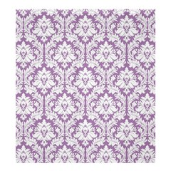 Lilac Damask Pattern Shower Curtain 66  X 72  (large) by Zandiepants