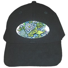 Peaceful Flower Garden Black Baseball Cap by Zandiepants