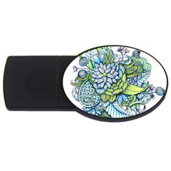 Peaceful Flower Garden 2gb Usb Flash Drive (oval) by Zandiepants