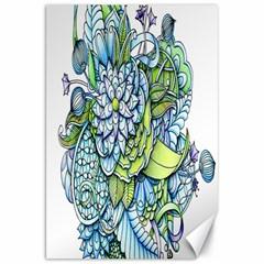 Peaceful Flower Garden Canvas 20  X 30  (unframed) by Zandiepants