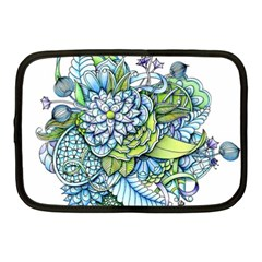 Peaceful Flower Garden Netbook Sleeve (medium) by Zandiepants