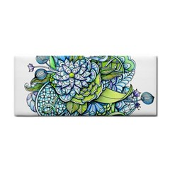 Peaceful Flower Garden Hand Towel by Zandiepants