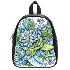 Peaceful Flower Garden School Bag (small) by Zandiepants