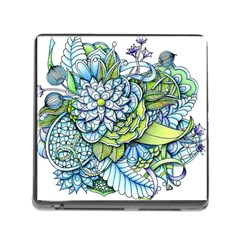 Peaceful Flower Garden Memory Card Reader With Storage (square) by Zandiepants