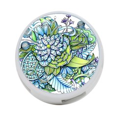 Peaceful Flower Garden 4 Port Usb Hub (one Side) by Zandiepants