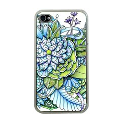 Peaceful Flower Garden Apple Iphone 4 Case (clear) by Zandiepants