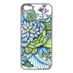 Peaceful Flower Garden Apple Iphone 5 Case (silver) by Zandiepants