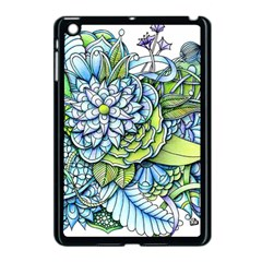 Peaceful Flower Garden Apple Ipad Mini Case (black) by Zandiepants