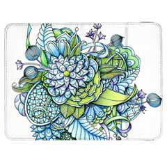 Peaceful Flower Garden Samsung Galaxy Tab 7  P1000 Flip Case by Zandiepants