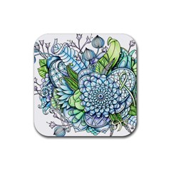 Peaceful Flower Garden 2 Drink Coaster (square) by Zandiepants
