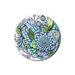 Peaceful Flower Garden 2 Drink Coaster (round) by Zandiepants