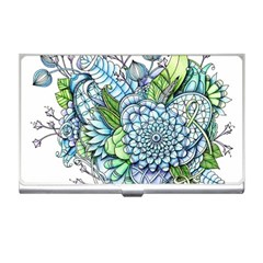 Peaceful Flower Garden 2 Business Card Holder by Zandiepants