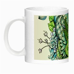Peaceful Flower Garden 2 Glow In The Dark Mug by Zandiepants
