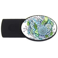 Peaceful Flower Garden 2 4gb Usb Flash Drive (oval) by Zandiepants
