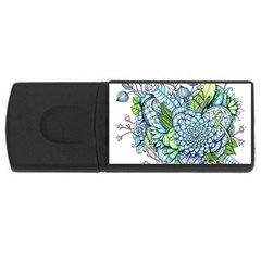 Peaceful Flower Garden 2 4gb Usb Flash Drive (rectangle) by Zandiepants