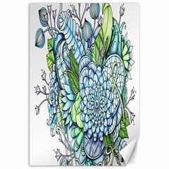 Peaceful Flower Garden 2 Canvas 20  X 30  (unframed) by Zandiepants